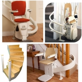 Many stairlifts available.