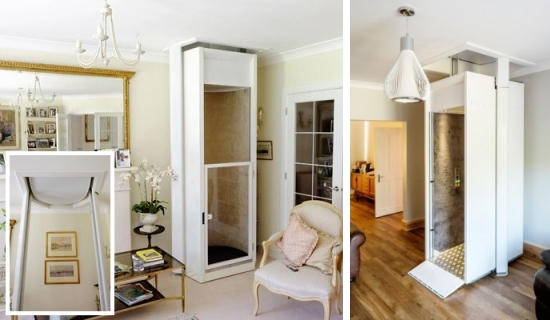 Through floor lifts domestic lifts for the home Two story elevator cost