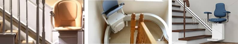 Curved and straight stairlifts.